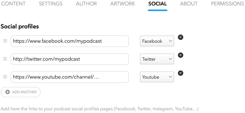 social-profiles