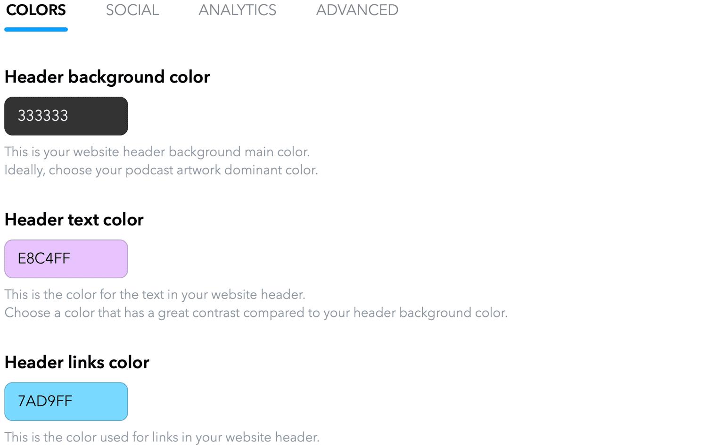 website-customize